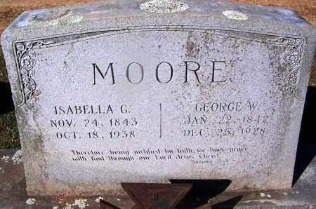 MOORE, ISABELLA G. - Clark County, Arkansas | ISABELLA G. MOORE - Arkansas Gravestone Photos