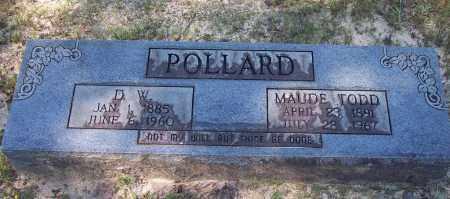 TODD POLLARD, MAUDE - Clark County, Arkansas | MAUDE TODD POLLARD - Arkansas Gravestone Photos