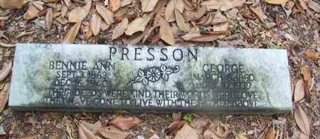 PRESSON, BENNIE ANN - Clark County, Arkansas | BENNIE ANN PRESSON - Arkansas Gravestone Photos