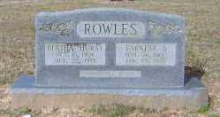 HURST ROWLES, BERTHA - Clark County, Arkansas | BERTHA HURST ROWLES - Arkansas Gravestone Photos