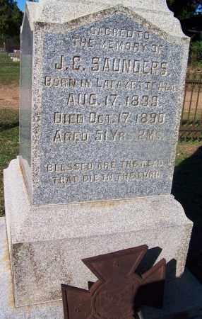 SAUNDERS (VETERAN CSA), J  C - Clark County, Arkansas | J  C SAUNDERS (VETERAN CSA) - Arkansas Gravestone Photos