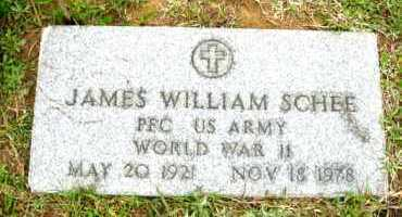 SCHEE (VETERAN WWII), JAMES WILLIAM - Clark County, Arkansas | JAMES WILLIAM SCHEE (VETERAN WWII) - Arkansas Gravestone Photos