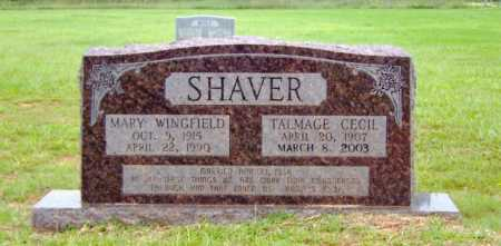 WINGFIELD SHAVER, MARY - Clark County, Arkansas | MARY WINGFIELD SHAVER - Arkansas Gravestone Photos