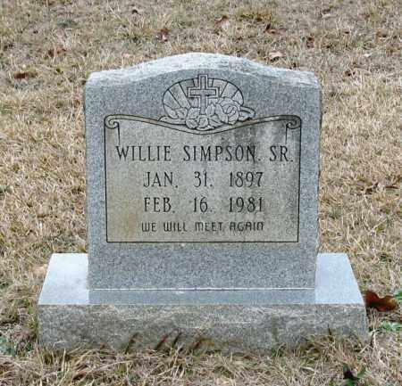 SIMPSON, SR, WILLIE - Clark County, Arkansas | WILLIE SIMPSON, SR - Arkansas Gravestone Photos