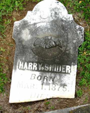 SNIDER, HARRY - Clark County, Arkansas | HARRY SNIDER - Arkansas Gravestone Photos
