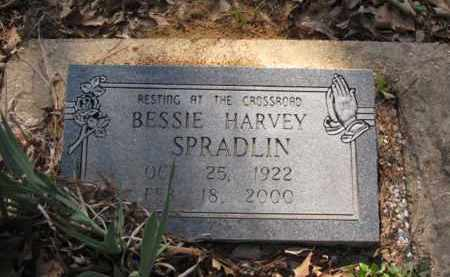 HARVEY SPRADLIN, BESSIE - Clark County, Arkansas | BESSIE HARVEY SPRADLIN - Arkansas Gravestone Photos