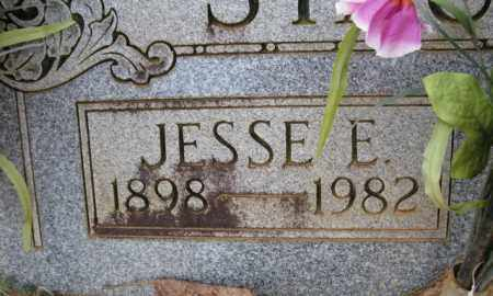 STAUFFER, JESSE E. (CLOSE UP) - Clark County, Arkansas | JESSE E. (CLOSE UP) STAUFFER - Arkansas Gravestone Photos