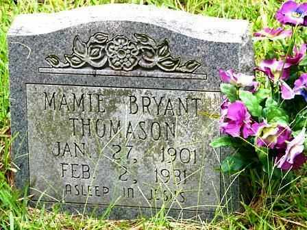 BRYANT THOMASON, MAMIE - Clark County, Arkansas | MAMIE BRYANT THOMASON - Arkansas Gravestone Photos