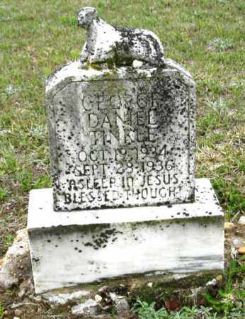 TINKLE, GEORGE DANIEL - Clark County, Arkansas | GEORGE DANIEL TINKLE - Arkansas Gravestone Photos