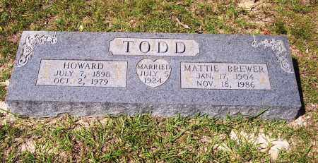 TODD, HOWARD ANDREW - Clark County, Arkansas | HOWARD ANDREW TODD - Arkansas Gravestone Photos