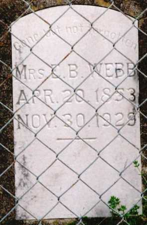 WEBB, ELIZA J. (MRS. E.B.) - Clark County, Arkansas | ELIZA J. (MRS. E.B.) WEBB - Arkansas Gravestone Photos