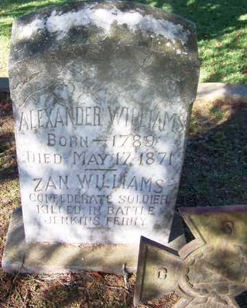 WILLIAMS (VETERAN CSA, KIA), ZAN - Clark County, Arkansas | ZAN WILLIAMS (VETERAN CSA, KIA) - Arkansas Gravestone Photos