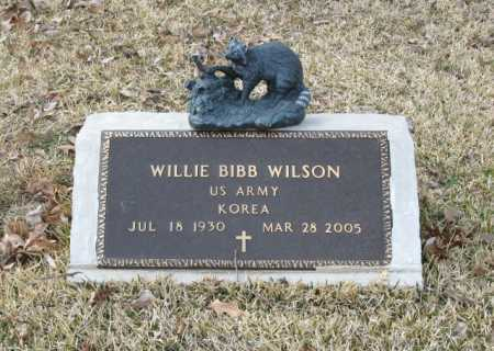 WILSON (VETERAN KOR), WILLIE BIBB - Clark County, Arkansas | WILLIE BIBB WILSON (VETERAN KOR) - Arkansas Gravestone Photos