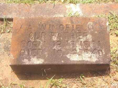 WINGFIELD, A. A. - Clark County, Arkansas | A. A. WINGFIELD - Arkansas Gravestone Photos