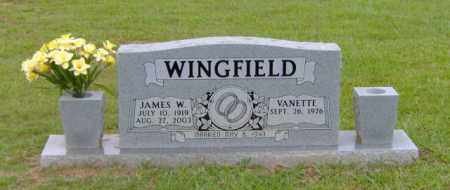 WINGFIELD, JAMES W - Clark County, Arkansas | JAMES W WINGFIELD - Arkansas Gravestone Photos