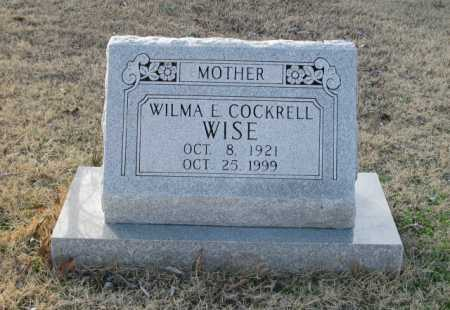 COCKRELL WISE, WILMA E. - Clark County, Arkansas | WILMA E. COCKRELL WISE - Arkansas Gravestone Photos