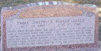 YATES, EMMA (POLLY) A. - Clark County, Arkansas | EMMA (POLLY) A. YATES - Arkansas Gravestone Photos