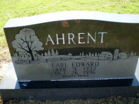 AHRENT  (VETERAN), EARL EDWARD - Clay County, Arkansas   EARL EDWARD AHRENT  (VETERAN) - Arkansas Gravestone Photos