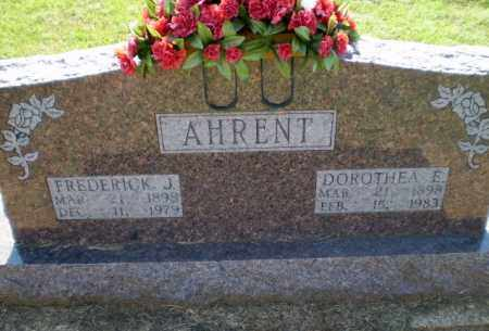 AHRENT, FREDERICK J - Clay County, Arkansas | FREDERICK J AHRENT - Arkansas Gravestone Photos