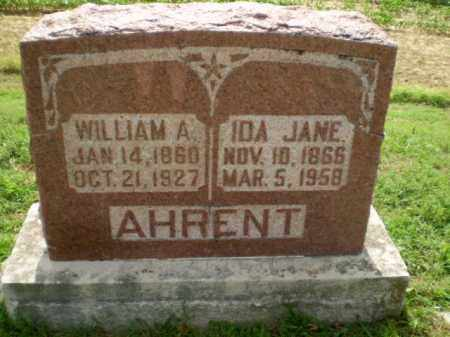 AHRENT, WILLIAM A - Clay County, Arkansas | WILLIAM A AHRENT - Arkansas Gravestone Photos