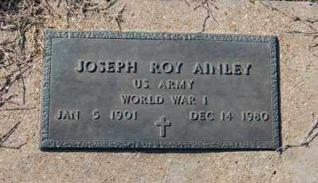 AINLEY (VETERAN WWI), JOSEPH ROY - Clay County, Arkansas | JOSEPH ROY AINLEY (VETERAN WWI) - Arkansas Gravestone Photos