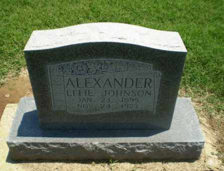 JOHNSON ALEXANDER, EFFIE - Clay County, Arkansas | EFFIE JOHNSON ALEXANDER - Arkansas Gravestone Photos