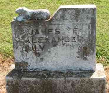 ALEXANDER, JAMES F. - Clay County, Arkansas | JAMES F. ALEXANDER - Arkansas Gravestone Photos