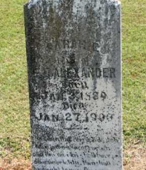 ALEXANDER, SARAH E. - Clay County, Arkansas | SARAH E. ALEXANDER - Arkansas Gravestone Photos
