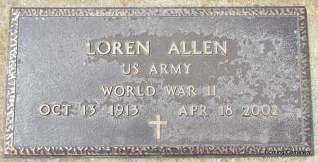 ALLEN  (VETERAN WWII), LOREN - Clay County, Arkansas | LOREN ALLEN  (VETERAN WWII) - Arkansas Gravestone Photos