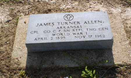 ALLEN (VETERAN WWI), JAMES TURNER - Clay County, Arkansas | JAMES TURNER ALLEN (VETERAN WWI) - Arkansas Gravestone Photos