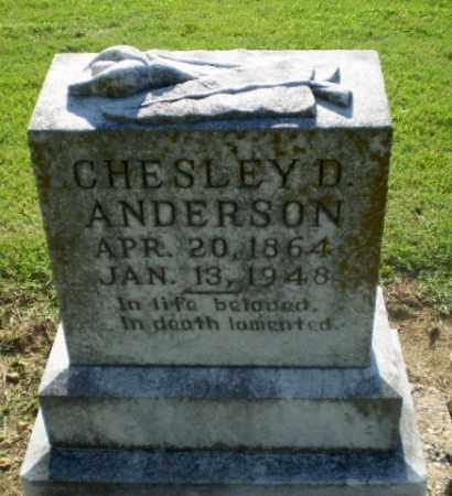 ANDERSON, CHESLEY D - Clay County, Arkansas | CHESLEY D ANDERSON - Arkansas Gravestone Photos
