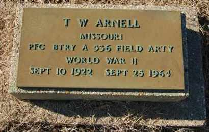 ARNELL (VETERAN WWII), T. W. - Clay County, Arkansas | T. W. ARNELL (VETERAN WWII) - Arkansas Gravestone Photos