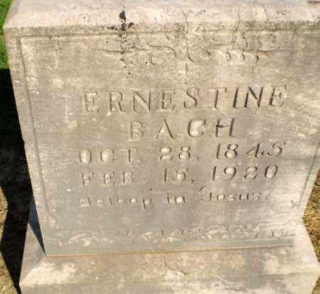 BACH, ERNESTINE - Clay County, Arkansas | ERNESTINE BACH - Arkansas Gravestone Photos