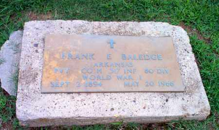 BALEDGE  (VETERAN WWI), FRANK E - Clay County, Arkansas | FRANK E BALEDGE  (VETERAN WWI) - Arkansas Gravestone Photos