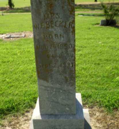 BECKER, MRS W..F - Clay County, Arkansas   MRS W..F BECKER - Arkansas Gravestone Photos
