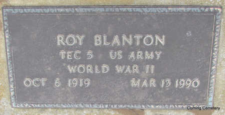 BLANTON  (VETERAN WWII), ROY - Clay County, Arkansas | ROY BLANTON  (VETERAN WWII) - Arkansas Gravestone Photos