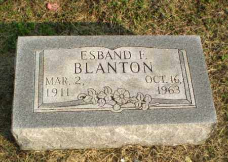 BLANTON, ESBAND F - Clay County, Arkansas | ESBAND F BLANTON - Arkansas Gravestone Photos