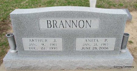 BRANNON, ARTHUR J - Clay County, Arkansas | ARTHUR J BRANNON - Arkansas Gravestone Photos
