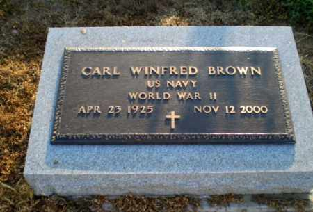 BROWN  (VETERAN WWII), CARL WINFRED - Clay County, Arkansas | CARL WINFRED BROWN  (VETERAN WWII) - Arkansas Gravestone Photos
