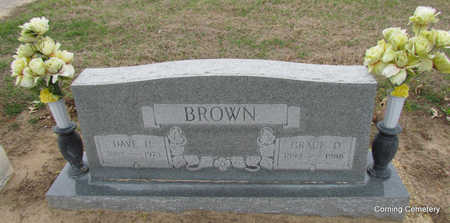 BROWN, GRACE DEXTER - Clay County, Arkansas | GRACE DEXTER BROWN - Arkansas Gravestone Photos