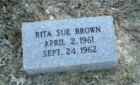 BROWN, RITA SUE (BABY) - Clay County, Arkansas | RITA SUE (BABY) BROWN - Arkansas Gravestone Photos