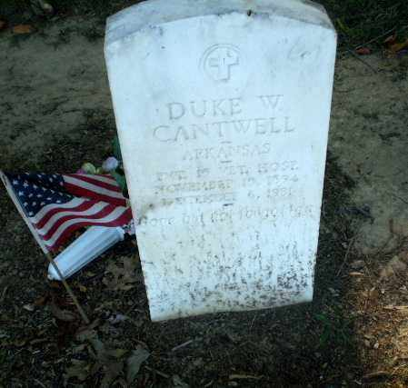 CANTWELL (VETERAN), DUKE W - Clay County, Arkansas | DUKE W CANTWELL (VETERAN) - Arkansas Gravestone Photos