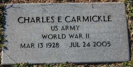 CARMICKLE (VETERAN WWII), CHARLES E - Clay County, Arkansas | CHARLES E CARMICKLE (VETERAN WWII) - Arkansas Gravestone Photos