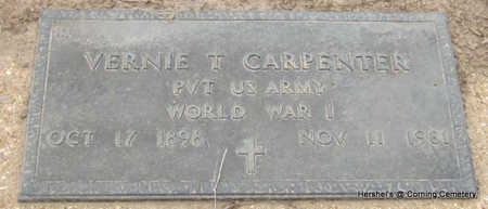 CARPENTER  (VETERAN WWI), VERNIE T - Clay County, Arkansas | VERNIE T CARPENTER  (VETERAN WWI) - Arkansas Gravestone Photos