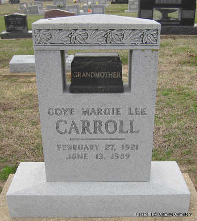 LEE CARROLL, COYE MARGIE - Clay County, Arkansas | COYE MARGIE LEE CARROLL - Arkansas Gravestone Photos
