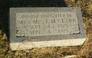 CLARK, INFANT DAUGHTER - Clay County, Arkansas | INFANT DAUGHTER CLARK - Arkansas Gravestone Photos