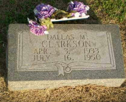 CLARKSON, DALLAS M - Clay County, Arkansas   DALLAS M CLARKSON - Arkansas Gravestone Photos