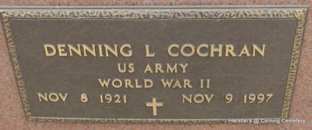 COCHRAN  (VETERAN WWII), DENNING LEE - Clay County, Arkansas | DENNING LEE COCHRAN  (VETERAN WWII) - Arkansas Gravestone Photos