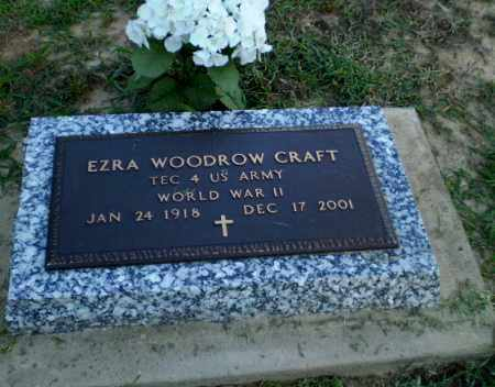 CRAFT  (VETERAN WWII), EZRA WOODROW - Clay County, Arkansas | EZRA WOODROW CRAFT  (VETERAN WWII) - Arkansas Gravestone Photos