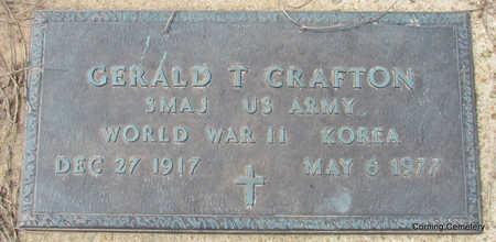 CRAFTON  (VETERAN 2 WARS), GERALD T - Clay County, Arkansas | GERALD T CRAFTON  (VETERAN 2 WARS) - Arkansas Gravestone Photos